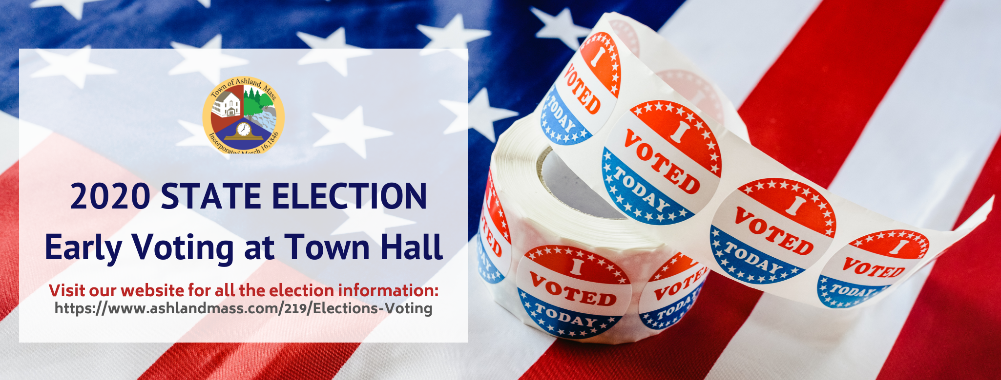 2020 STATE ELECTION Early Voting at Town Hall