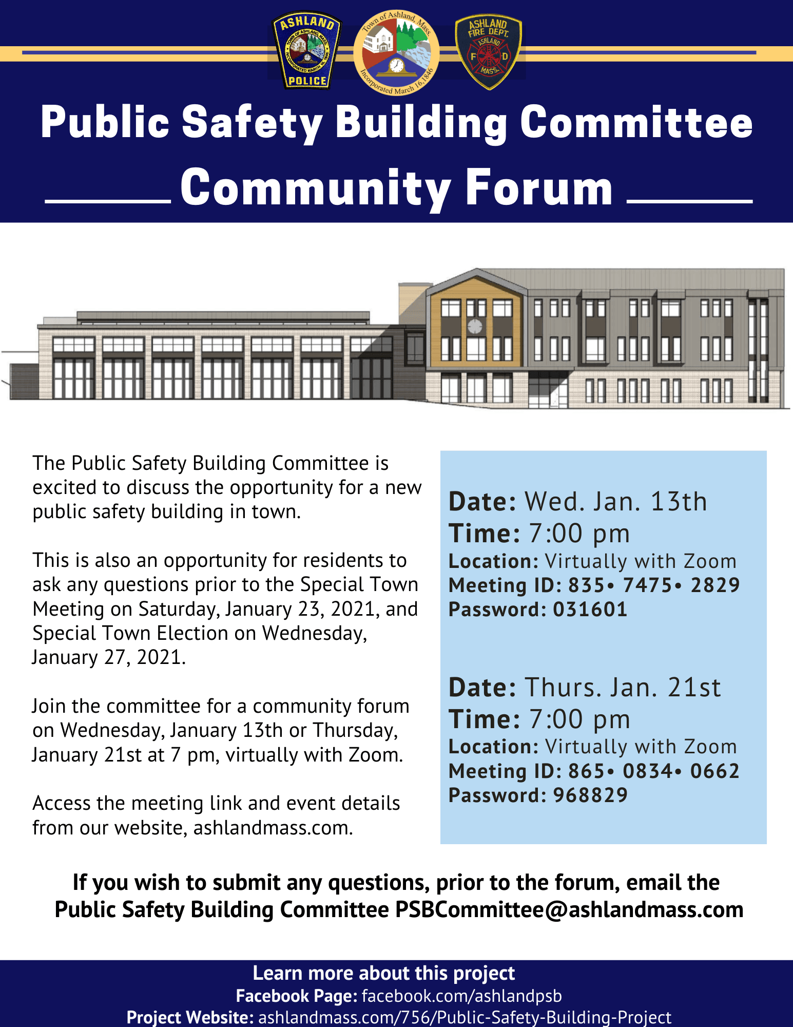 Public Safety Building Meeting Forum