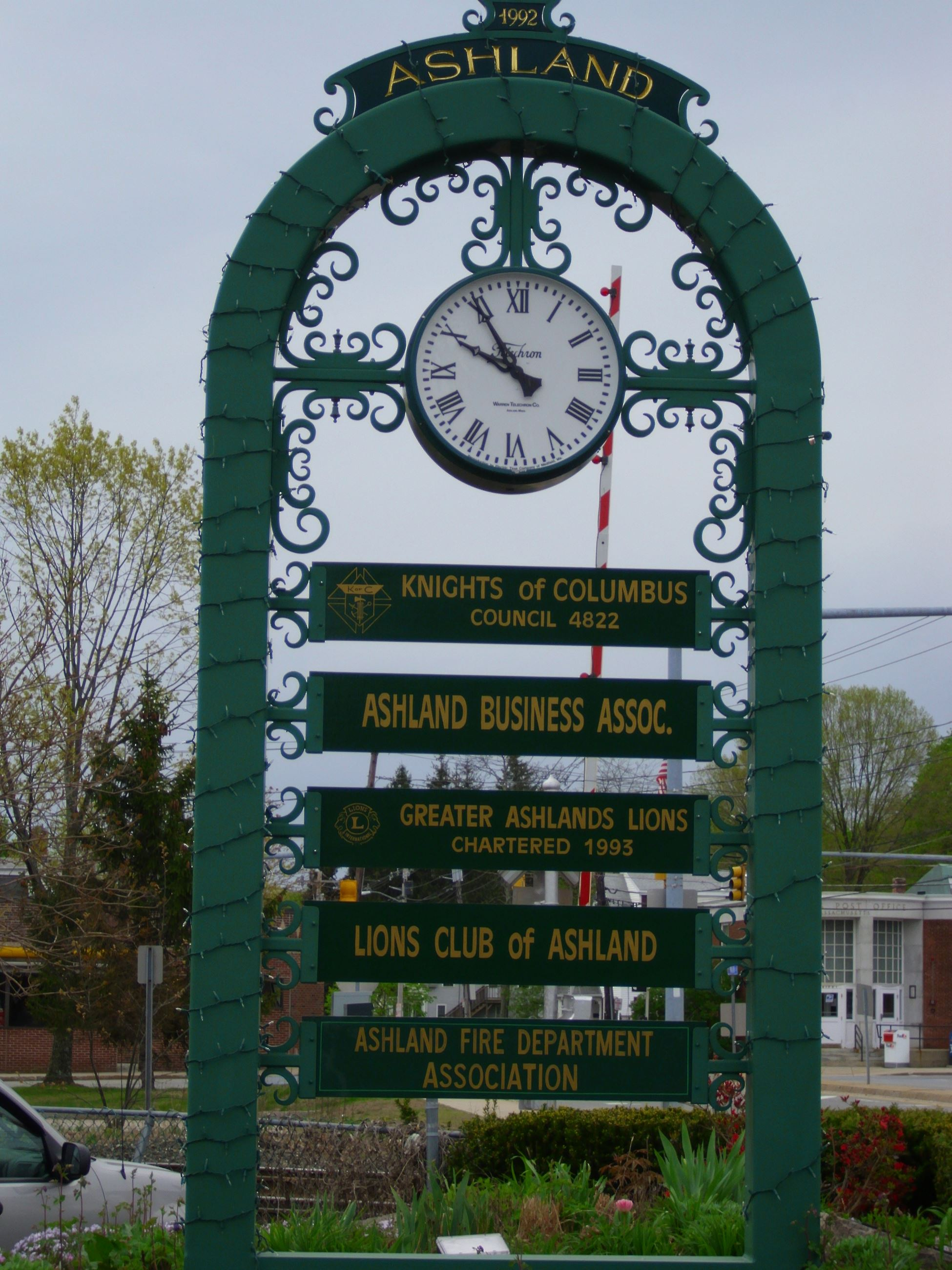 Historic Clock Located in Downtown
