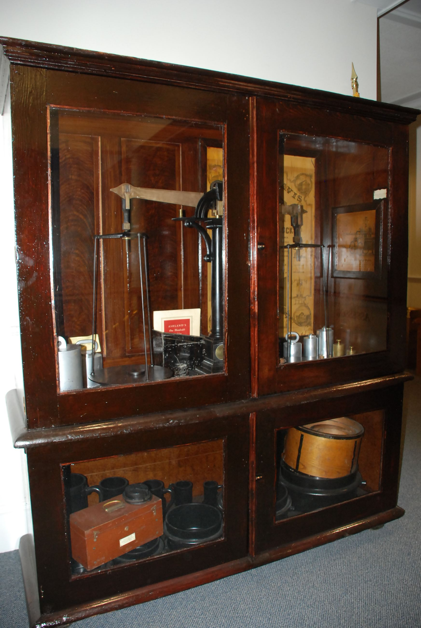 Historic Weights Cabinet